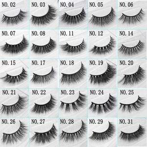 Visón 3D pestañas falsas hechas a mano Natural largo suave calidad Premium Mink real pestañas falsas mujeres maquillaje reutilizable Eyelashe 1 par paquete