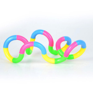 100 قطعة / الوحدة rainbow حلقة الإعصار لعبة جديدة الضغط اللعب لف متنوعة الضغط اللعب تويست حلقة dhl شحن
