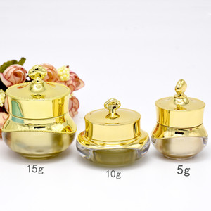 5/10 / 15g Crown Form Kunststoff Mehrwegflaschen Leere Topf Flaschen Make-Up Glas Reise Gesichtscreme Lotion Kosmetik Container Heißer Verkauf