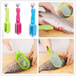 Herramienta de limpieza de pescado multifuncional al por mayor Killing Scraping Scales con dispositivo de cuchillo cocina de hogar accesorios de cocina