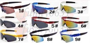 SUMMER homem marca ao ar livre esporte óculos de Sol Da Bicicleta de Vidro 11 cores mulher vento sol óculos de revestimento reflexivo de vidro de sol ciclismo deslumbrante