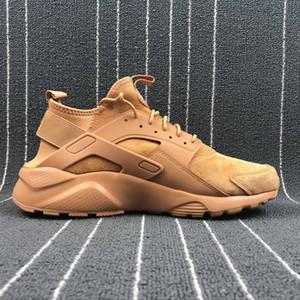 2018 Klasik Huarache 4 Koşu Ayakkabıları Huaraches IV Erkek Kadın Sneakers Ultra Üçlü Kahverengi Nefes Örgü Ucuz Ayakkabı Boyutu 36-44