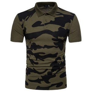 2018 Marque Vêtements Homme Polo cool Camouflage Impression Top Shirt pour Homme Confort Breath TURN-Col Hommes Polos