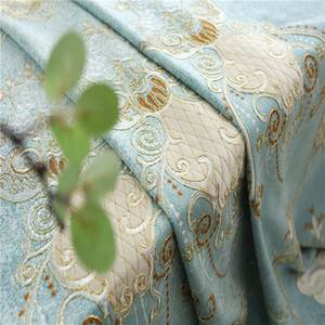 European luxury high-end stickers embroidered chenille embroidered gauze all blackout thickening living room bedroom custom curtain