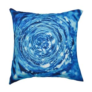 Cotton Linen Cushion Cover Blue Patern Printed Pillow Cases For Home Decoration Sofa Car Seat Decor Throw Pillows Covers 45*45cm
