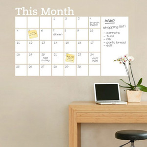 الجملة الجديدة هذا الشهر أبيض اللون السبورة ملصقات الحائط ملصقات خطة شهرية التقويم مكتب اللوازم المدرسية