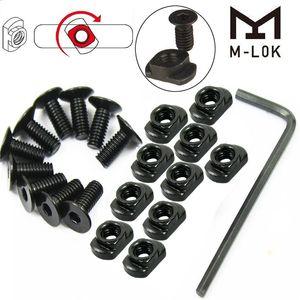 10 Paket M-LOK MLOK Handguard Ray Bölümleri Avcılık için Vida ve Somun Değiştirme