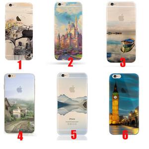 Модный дизайн декораций прозрачные чехлы для iPhone 6 6 S iphone 7 iphone X прозрачный мягкий TPU крышка телефона