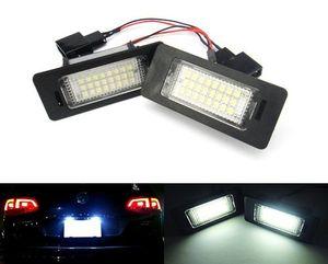 2pcs части автомобиля свет 24 SMD 12V LED номерной знак лампа для AUDI A4 B8 S4 A5 S5 Q5 применяется