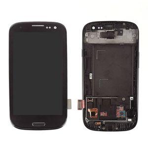 Samsung Galaxy S3 için süper AMOLED LCD Ekran l9300 LCDDisplay Dokunmatik Digitizer Meclisi Kopya Işık Kaliteli