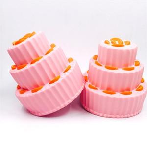 Main Squeeze Toy Trois Niveaux Orange Cake Pain Squishy Réaliste Élastique Anti Stress Simulation Food Squishies Haute Qualité 20sy CB