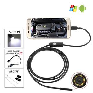 5.5 мм эндоскоп камеры USB android эндоскоп водонепроницаемый 6 LED бороскоп инспекции камеры эндоскоп для Android ПК