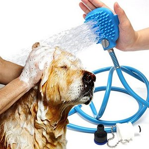 Pet الاستحمام أداة مريحة مدلك دش أداة تنظيف غسل حمام الرشاشات بالم الحجم الكلب الغسيل البخاخ تدليك اليد c418