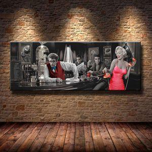 Marilyn Monroe, Elvis Presley, 1 Peças Cópias Da Lona Arte Da Parede Pintura A Óleo Home Decor (Sem Moldura / Emoldurado)