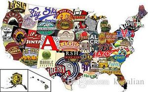 Envío gratis American Craft Beer Pub Crawl Arte de alta calidad Posters Impresión de papel fotográfico 16 24 36 47 pulgadas