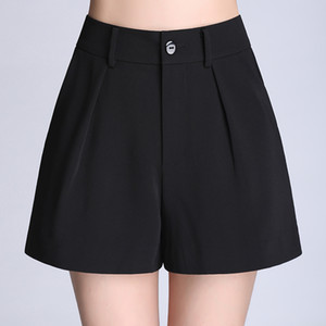 Soperwillton High Waist Wide Leg Pants Women Summer Casual Shorts Loose Short Pants EleFemale Shorts Women S-4XL #BP0708