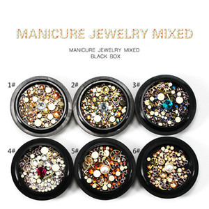 Design di gioielli per unghie Kit di micro perline colorate Accessori Fiamma Magia Gemstone Circle 3D Consigli per l'arte fai da te Adesivi Decorazione per manicure