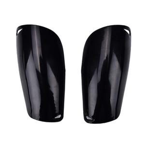 Black 1 paire de sports professionnels Soccer Shin Guards Pays de football Pads de gardien de but de gardien de but protecteur Shin Guards