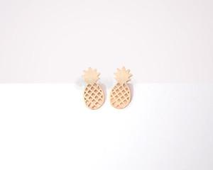 Orecchini moda ananas, piccola trafilatura con orecchini a perno superficie ananas per donna all'ingrosso spedizione gratuita