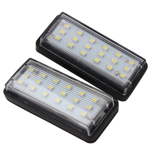 2pcs LOT LED Car License Plate Lights 6500k White Light for Toyota Land Cruiser Prado Reiz Mark X for Lexus LX470 LX570 GX470
