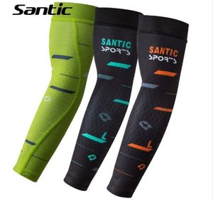 Santic Summer Anti-UV Brazo transpirable Sleeve Warmers Cubierta Cycling Arm Warmers Sport Baloncesto Sleeves Arms Bike Armwarmers S-L