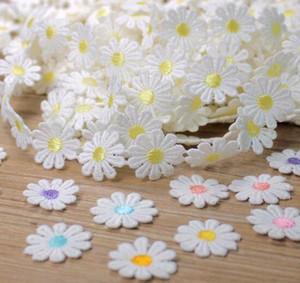 20 ярдов 25 мм Дейзи/sun цветок кружева ленты вышитые отделка ткани для DIY швейные свадебные украшения