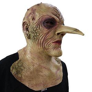 2018 Big Long Nose Mask Halloween Christmas Show Props Ghost Mask para regalo de festival Fiesta de Navidad Máscara de herramienta