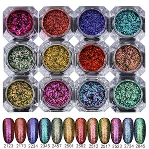 1 Box BORN PRETTY Chameleon Starry Paillette Sparkly Ultra-thin Nail Art Glitter Sequins 12 Colors