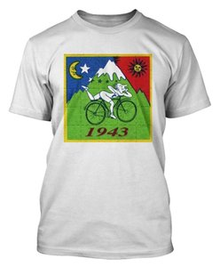 Bicicleta Day Bikeer Trip Wholesale Descuento Camiseta Ácida Dr Albert Hofmann Camiseta Ácido Party New Design Cotton Male Tee Shirt Diseño