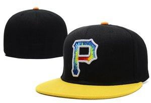 Neue Ankunft Piraten P Brief Baseball Caps casquette de marque Gorras Planas Hip Hop Männer Frauen ausgestattet Hüte