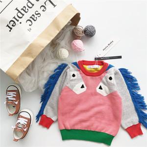 2018 весна осень дети конфеты цвета мода лошадь свитера мальчик одежда девочка одежда VETEMENT ENFANT GARCON Рождество