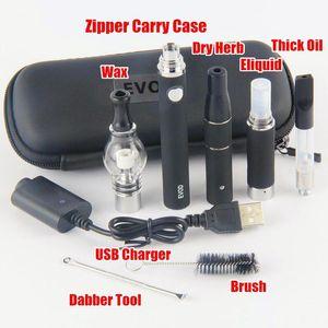 1100mAh EVOD 4 in 1 Starter Kit 4in1 Vapes Glass Globe Dab Wax Pen Ago Dry Herb Vaporizzatore MT3 cartucce vape
