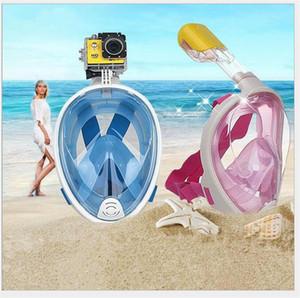 Subaquático anti nevoeiro máscara de mergulho snorkel treinamento de natação scuba 2 em 1 face completa mergulho mergulho máscara de snorkeling câmera