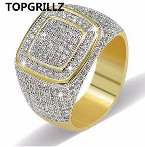 TOPGRILLZ хип-хоп кольцо все замороженные высокое качество микро проложить CZ кольца женщины мужчины Золотое кольцо для любви, подарок