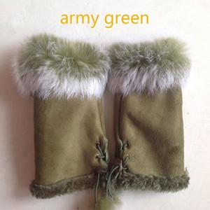 Le ragazze Le donne Winter Fashion Warm Faux Rabbit Fur Guanti senza dita morbidi guanti Y18102210