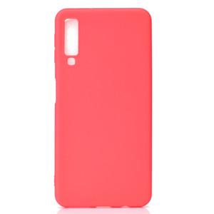 Cubierta del color del caramelo para Samsung Galaxy A7 2018 Funda Soft TPU Ultathin Designer Mobie Phone Cases Capinha