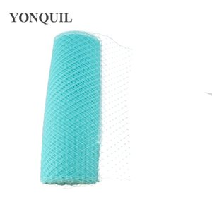 "Cyan Birdcage Veils 10""(25cm) For women Millinery Hat Mesh Veil fascinator nettings material DIY Hair accessories 10yard lot Free ship"