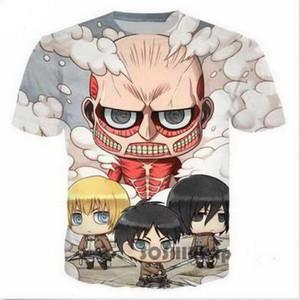 공격 타이탄 3D 웃긴 티셔츠 새로운 패션 남자 / 여자 3D 프린트 캐릭터 티셔츠 티셔츠 여성 섹시한 티셔츠 티셔츠 탑스 의류 ya85