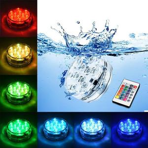 Подводный Погружной Ваза 10 Светодиодный Пульт Дистанционного Управления RGB Свечи На Батареях Ночник Лампа Открытый Украшение Партии