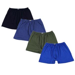 4 unids / lote Boxer Hombres Algodón Boxers Loose Shorts Bragas de los hombres Más Tamaño Corto Transpirable Mens Underwear Boxers