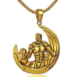 Pendente NM019 del fumetto del manichino del maschio dell'uomo del muscolo gonfiabile dei gioielli della lega dell'acciaio inossidabile di marca