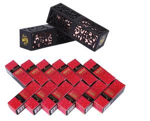 Habibi marca de belleza Mate Kit de maquillaje de labios de la plaza del lápiz labial de larga duración pigmento atractivo rojo oscuro Barra de labios mate de lujo