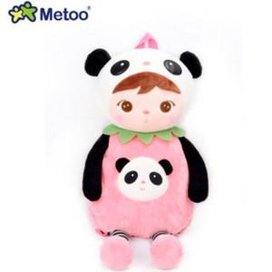 Metoo Animals Cartoon School Bags Kids Doll Plush Backpack Toy Children Shoulder Bag for Kindergarten Angela Rabbit Girl