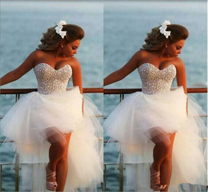 Sweetheart Crystal Beads Wedding Dresses Corset Puffy Tulle Skirt Fashion Formal Party Wear Pageant beach bridal Gowns Vestido