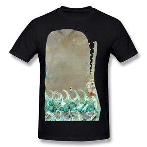 Новое прибытие мужчины хлопчатобумажная ткань кит футболки мужчины шею бежевый с короткими рукавами футболки очень большой размер группа футболки