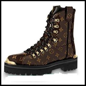 18ss Hombre Mujer Botines Zapatos Mujer Primavera Otoño Cuero Genuino Zapatos Cordones Punk Plus Equitación, Equestr Boots