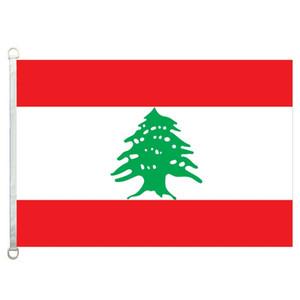 Bandiera del Libano Banner 3X5FT-90x150cm 100% poliestere, bandiera esterna in tessuto lavorato a maglia con trama da 110gsm