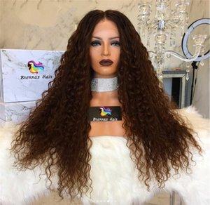 Peluca llena del cordón del pelo rizado indio malasio brasileño lleno del cordón Pelucas delanteras del cordón del pelo de la Virgen Remy para las mujeres negras Reino Unido EE. UU.