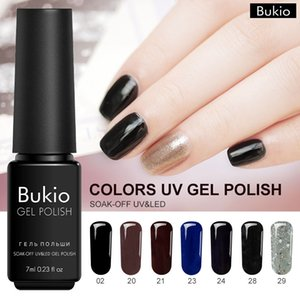 Гель для ногтей Bukio Цветной гибридный набор для маникюра 28 Чистые цвета камуфляж один из профессионального комплекта Lucky Lacquer