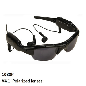 SM07B 1080P Cámara de video Bluetooth Lentes polarizadas Gafas Soporte DV MP3 Música Llamadas telefónicas Tarjetas TF Grabador de gafas móviles Gafas de sol 1pc